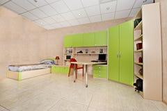 Children bedroom. Complete set of furniture for children bedroom stock image