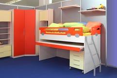 Children bedroom. Complete set of furniture for children's bedroom Royalty Free Stock Image