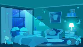 Free Children Bedroom Furnishing Flat Vector Illustration Royalty Free Stock Photos - 175926938
