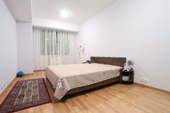 Children bedroom. Bedroom wide view, inside a real estate property Stock Photos