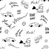 Seamless doodle cars Royalty Free Stock Photo