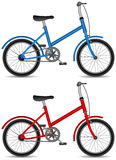 Children bicycle, boy and girl bike Royalty Free Stock Image