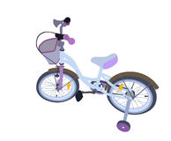 Children Bicycle. Isolated Stock Images