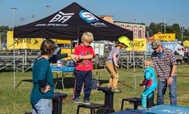 Children on a Bike Track – Roanoke, Virginia Stock Photography