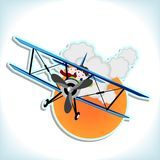 Children in the biplane Stock Image