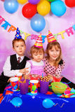 Children on birthday party Royalty Free Stock Photography