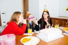 Children at birthday party Stock Photo
