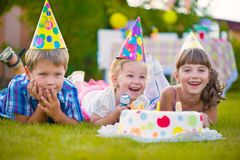 Children birthday party Royalty Free Stock Images