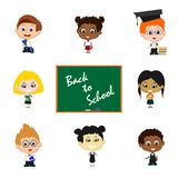 Children with blackboard Royalty Free Stock Image