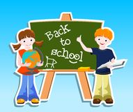 Children with blackbord - back to school concept Royalty Free Stock Photos