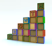 Children blocks - growth Stock Photo