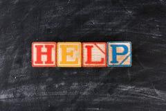 Children bloki Literuje Out pomoc Zdjęcia Stock