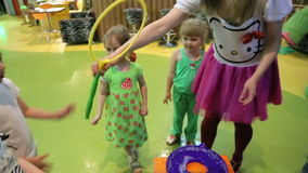 Children blow bubbles