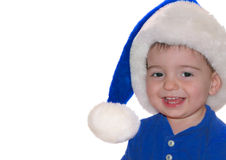 Children: Blue Santa Baby Royalty Free Stock Photography