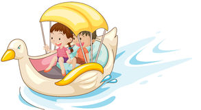 Children in boat Stock Photography