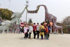 Children boisko wanilia park Fotografia Stock