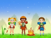 Children bonfire Stock Photo