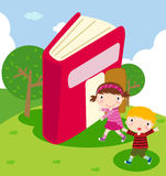 Children and book Stock Photography