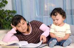 Children with the book. Royalty Free Stock Photos