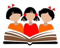 Children and book Royalty Free Stock Image
