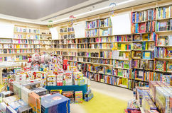 Children Books. Library Bookshelves With Children Books Royalty Free Stock Image