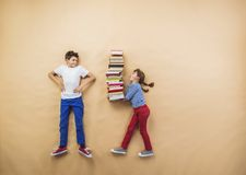 Children with books Royalty Free Stock Photos