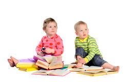 Children with books Royalty Free Stock Photo