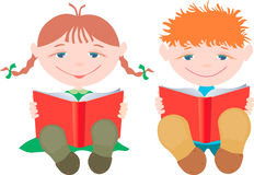 Children with the books Stock Images