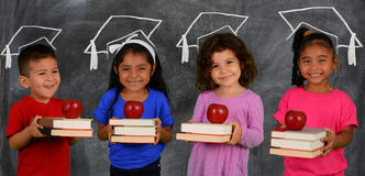 Children With Books Stock Photo