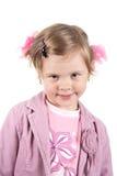 Children bow. Surprised little princess. Shot in studio Stock Images
