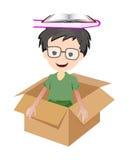 Children and box Stock Photo