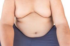 Children boy fat on isolated white. Stock Photos