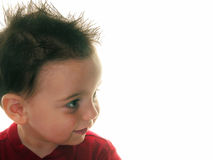 Children: Boy's Spiked Profile Royalty Free Stock Image