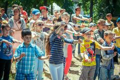 Free Children – Boys And Girls Participating At Dancing Activity On Family Charity Festival Stock Image - 124097441