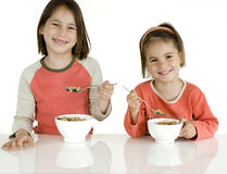 Children with breakfast Royalty Free Stock Photo