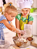 Children  breakfast at kitchen Royalty Free Stock Images