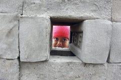 Children at the Brick-field Stock Image