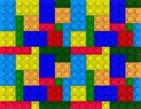 Children brick toy background. Huge Colorful Children Brick Construction toy background royalty free illustration