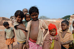 Children at the Brickfield in India Royalty Free Stock Photos
