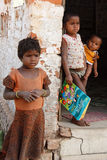 Children at the Brickfield in India Royalty Free Stock Photography