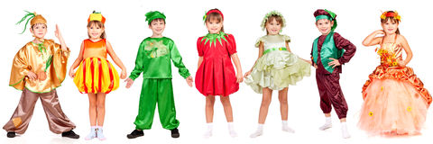 Children in bright fancy dress Stock Photos