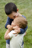 Children brothers Stock Images