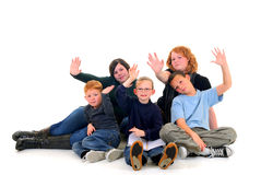 Children, brothers and sisters Stock Photo