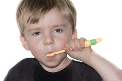 Children brushing teeths Stock Image