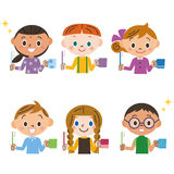 Children brushing their teeth Stock Images