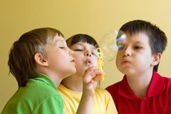 Children with bubbles Royalty Free Stock Images