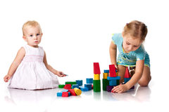 Children building a castle Royalty Free Stock Photo
