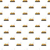 Children bumper machine pattern. Seamless repeat in cartoon style vector illustration Royalty Free Stock Image