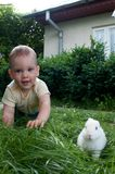 Children and bunny Stock Photos