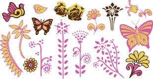 Children butterfly flower garden Royalty Free Stock Photography